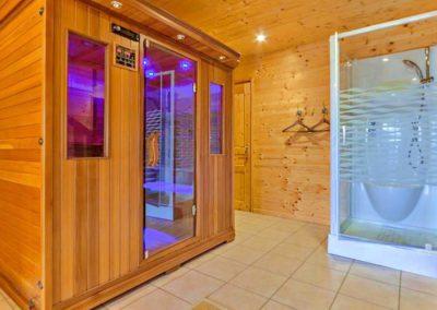 Sauna chalet Hestia le Corbier