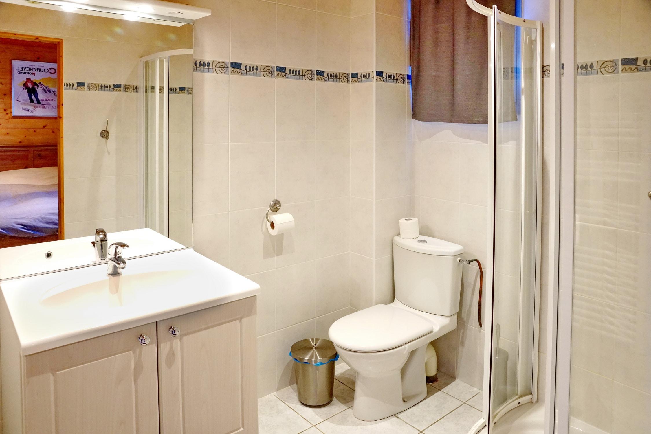 Salle de bain Suite parentale avec enfants Chalet Hestia